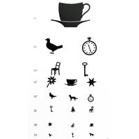 Πίνακας Οπτομετρίας/Οπτότυπο με παιδικά σύμβολα