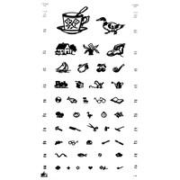 Πίνακας Οπτομετρίας /Οπτότυπο με παιδικά σύμβολα