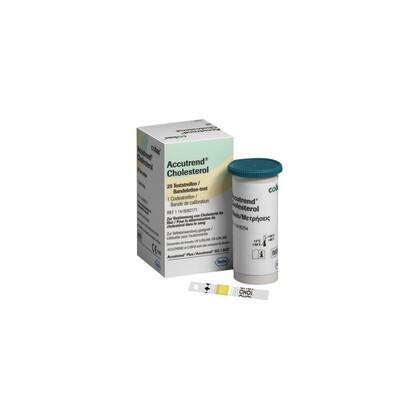 Ταινίες μέτρησης Χοληστερίνης συσκευής ROCHE Accutrend Plus | 25 τεμάχια