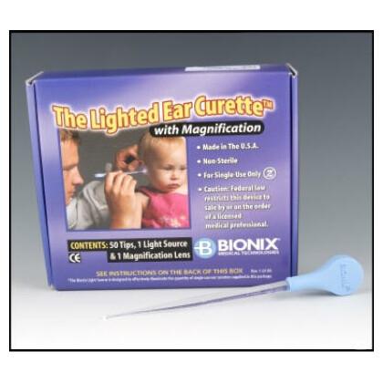 Φωτιζόμενες Κιουρέτες Αυτιών για βρέφη/παιδιά Bionix | 50 τεμάχια
