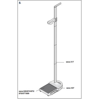 Seca 437, Προσαρμογέας Ζυγού & Αναστημόμετρου Seca