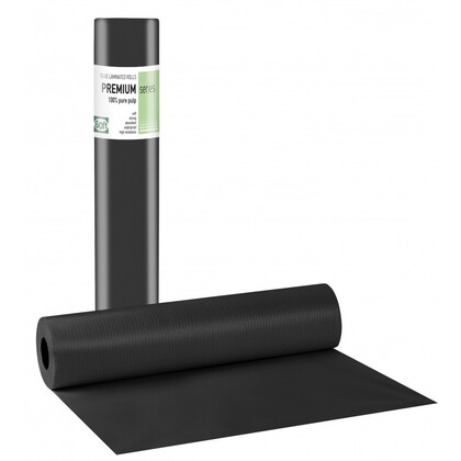 Εξεταστικό Ρολό Πλαστικοποιημένο Μαύρου Χρώματος | 12 τεμάχια