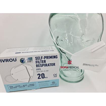 Αναπνευστήρας IVROU FFP3 - Απόλυτη Προστασία - Πιστοποιημένη | 5τμχ