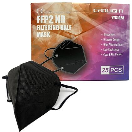 Μάσκα CRDLIGHT FFP2 NR Πιστοποιημένη από SGS Ελβετίας σε 3 Χρώματα   25τμχ