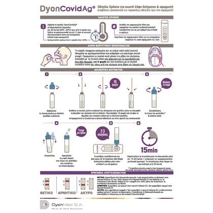 Rapid Τεστ Αντιγόνων DyonCovidAg DyonMed (Ρινικό - Ρινοφαρυγγικό - Φαρυγγικό)